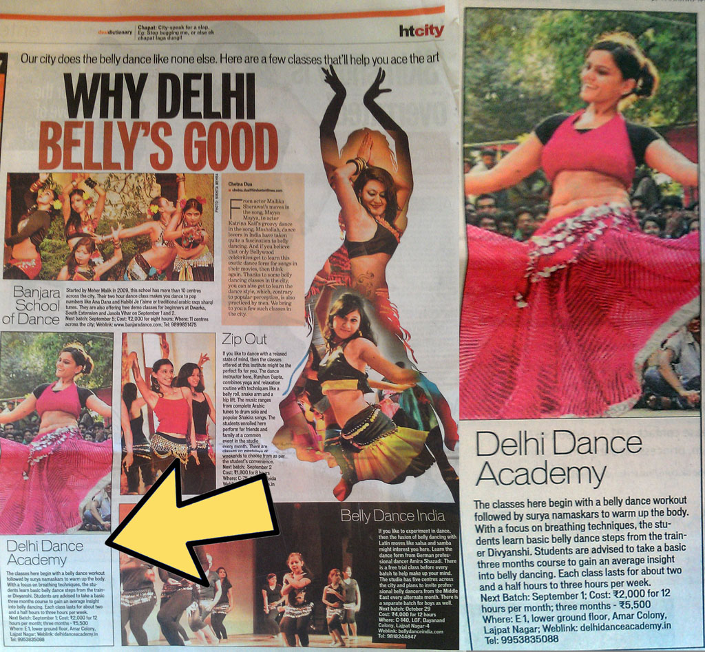 DDA's Belly Dancing in Hindustan Times' HT City
